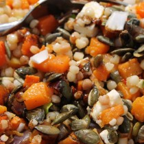Fregola and butternut squash salad